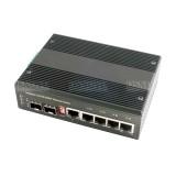 Промышленный неуправляемый коммутатор Gigabit Ethernet на 6 портов
