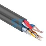 Мульти-кабель FTP 4PR 24AWG CAT5e+2х0.75мм, 200 м, черный, OUTDOOR