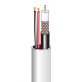 Комбинированный кабель для видеонаблюдения внутренний 12В (бухта 200м)
